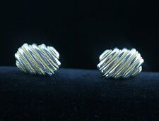 Tiffany & Co. Sterling Silver & 18K Yellow Gold Rope Cufflinks