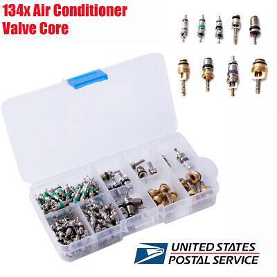 134pcs+30pcs Metal Air Conditioning System A//C Valve Cores Assortment Kit