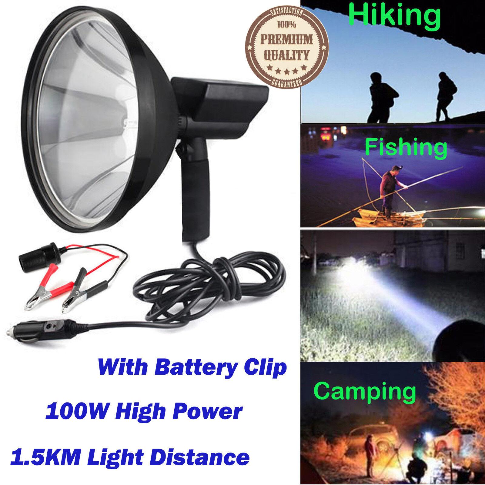 8000 Lumen Flashlight HID Hunting Light Torch 100W Handheld Spotlight Bright