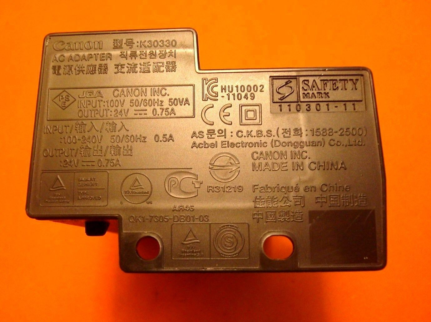 K30330 OEM Genuine Canon Power Adapter 24 V 0.75 a for Pixma Mg2120 ...