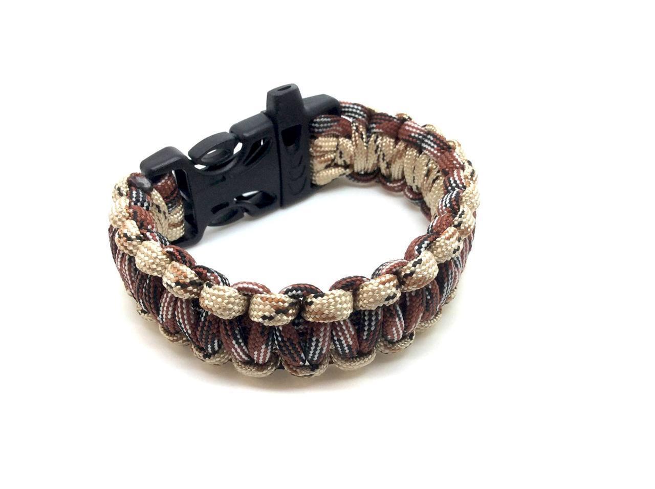 Paracord Bracelet Outdoor Camping Survival Survival Survival Bracelet Bracelet Désert numérique 1b4c36