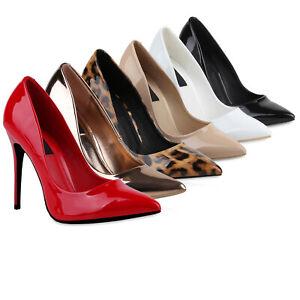 Lack Heels 76801 Schuhe Spitze Zu Details High Stilettos Damen Pumps luKTcF31J