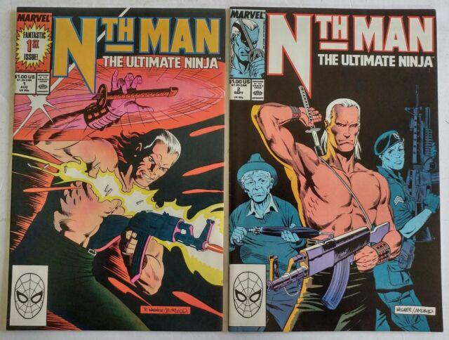 Marvel-Nth Man the Ultimate Ninja #1,2-1989-Larry Hama