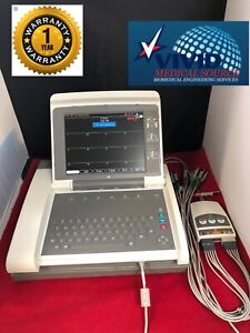 GE-MAC-5000-ECG-Machine-w-CAM-14-Acquisition-Module-amp-Color-Screen