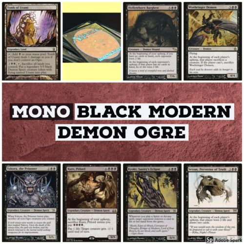 mtg Mono Black Modern Demon Ogre deck Magic the Gathering rare Urami Yukora