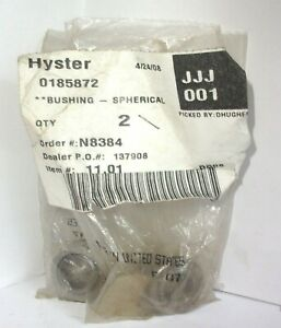 0185872 Hyster Spherical Bushing Lot Of Two 185872