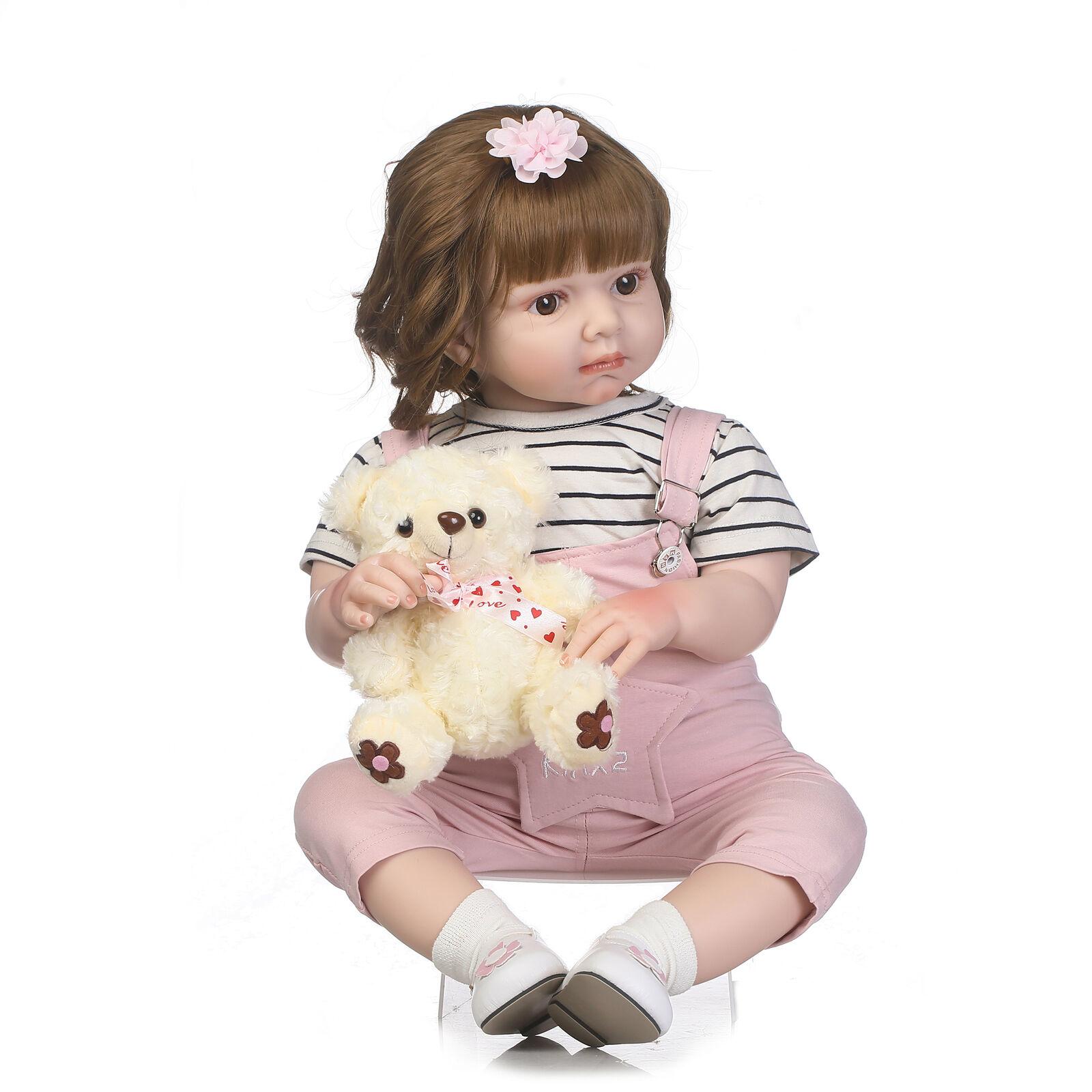 2018 BAMBINO BEBE RINATO bambino Girl bambola Soft  Viny realistici neonato giocattoli regalo 28   qualità di prima classe