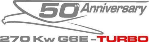 CUSTOM 50th ANNIVERSARY FORD G6E TURBO DECAL//XR8 GT FPV