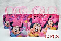 12 Pcs Disney Minnie Mouse Candy Bags Party Favors Gift Goody Bags