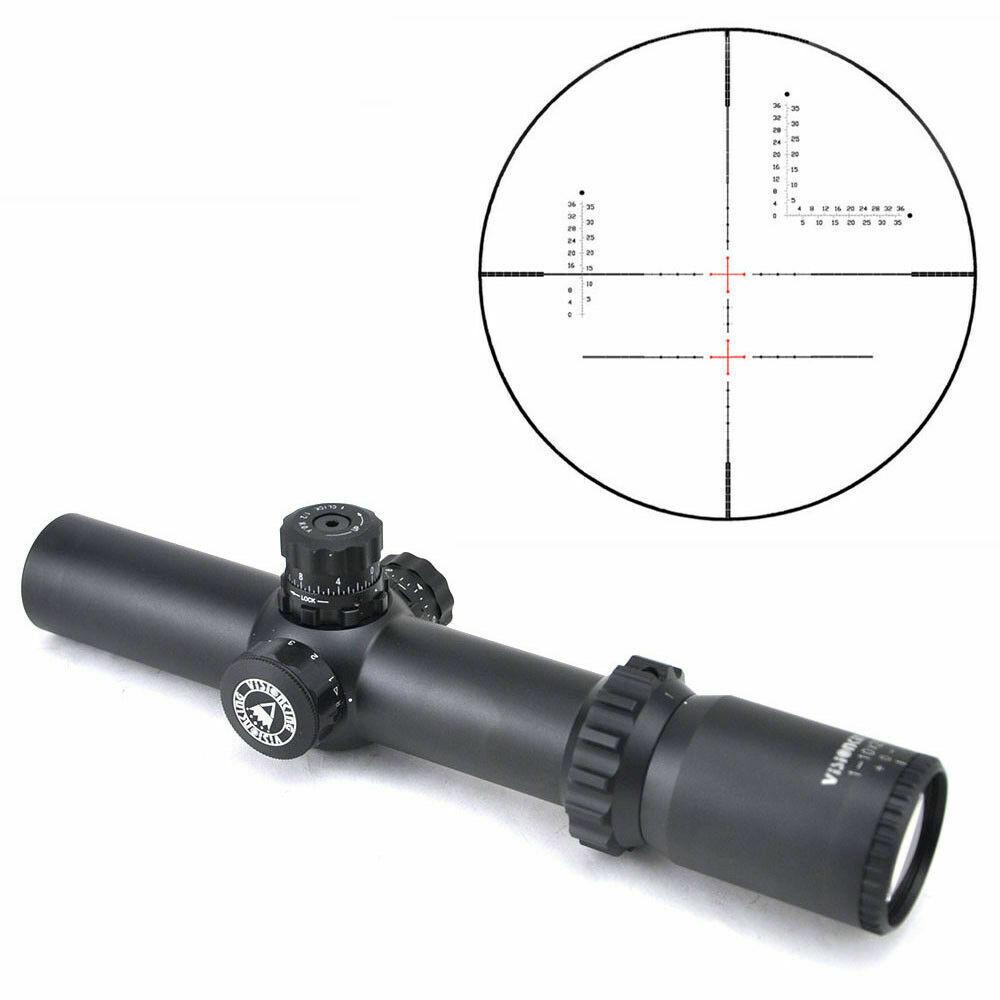 Visionking 1-10x28 rifle 35mm caza retícula militar táctico 308 3006