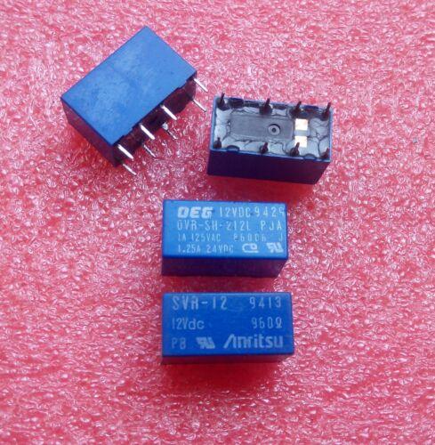 OVR-SH-212L RY12W-K Signal Relay 1A 12VDC 8 Pins x 10pcs