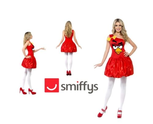Smiffy's Red Angry Bird Women Adult Fancy Dress Party Clothes Costume Clearance