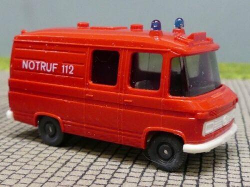 1//87 Wiking MB 508 Feuerwehr Rettungswagen RTW Notruf 112 hellrot  608 1A