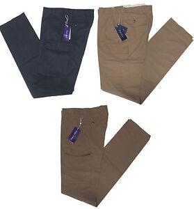 450-RALPH-LAUREN-Purple-Label-Homme-Solid-Cargo-Slim-Casual-Robe-Pantalon-Chino