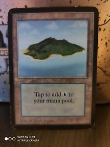 Island-V-2-ALPHA-Edition-Old-School-MTG-MP-Magic-The-Gathering