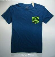 American Eagle Mens Ae Blue Pocket T Shirt Xxxl