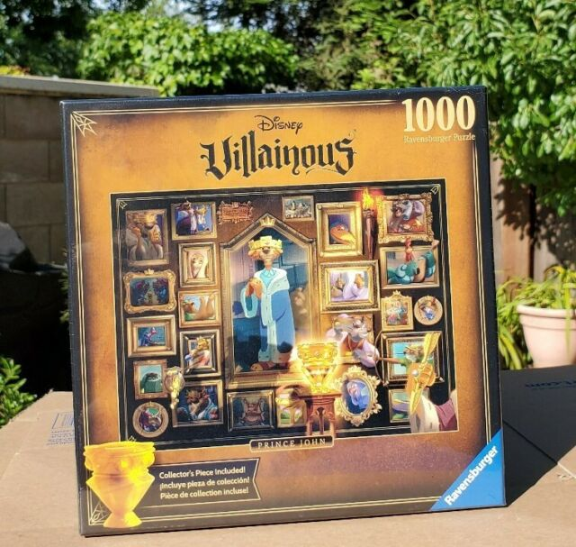 NEW! Ravensburger Prince John Disney Villainous 1000 Pcs Jigsaw Puzzle SEALED