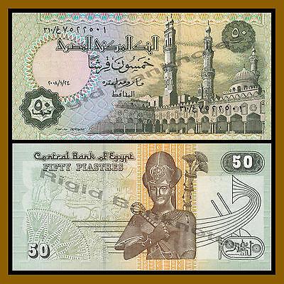 1987 UNC Lemberg-Zp Egypt 50 Piastres 09.02