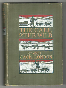 THE-CALL-OF-THE-WILD-Jack-London-1903-First-Edition-4th-Printing-GOODWIN-Bull