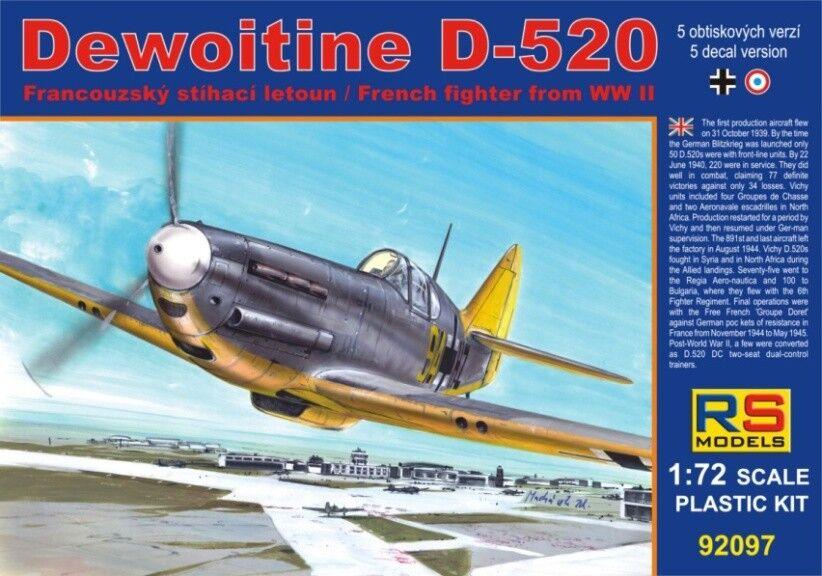 RS Models 1 72 Dewoitine D.520
