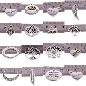 10X-Tibetan-Silver-Beads-Charms-Jewelry-Making-Crafts-Findings-Pendants-DIY