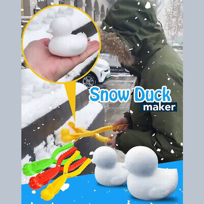 Details about  /1X Maker Outdoor Tool Penguin Ball Snowman Shaped Mould Kids Clip Snow Sand Mold
