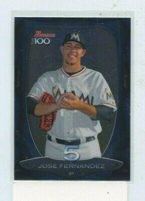 2013 Bowman Top 100 Prospects #BTP-5 Jose Fernandez Miami Marlins Rookie Card