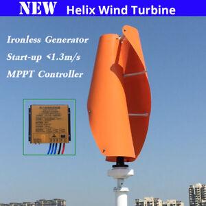 Details about 1 3m start up 0 noise 400w 12v 24v Helix maglev vertical wind  turbine generators