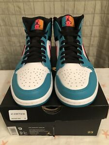 84ab756fb6adf Air Jordan 1 Mid SE South Beach Turbo Green Black Hyper Pink 852542 ...
