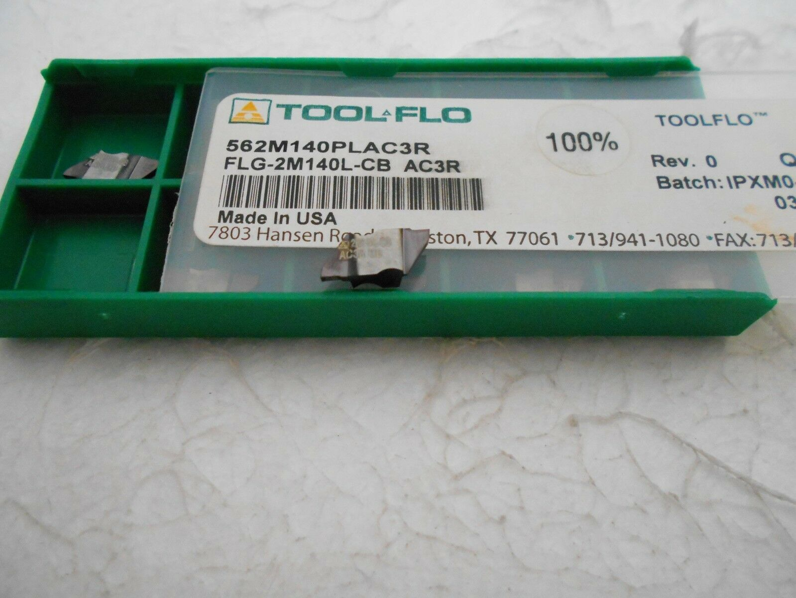 10pc ToolFlo FLG 3094LCB AC3R Top Notch Coated Carbide Grooving Inserts NG 3094