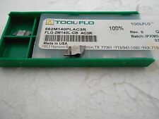 Tool-flo Flg-2m140l Ac3r 562m140plac3r Double Ended Grooving Inserts Qty. 10 USA