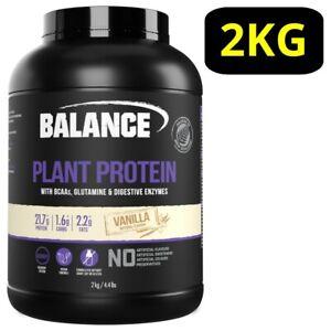 Balance Plant Protein Powder 2KG - Vanilla w/ BCAAs Glutamine P21.7g* Vegan