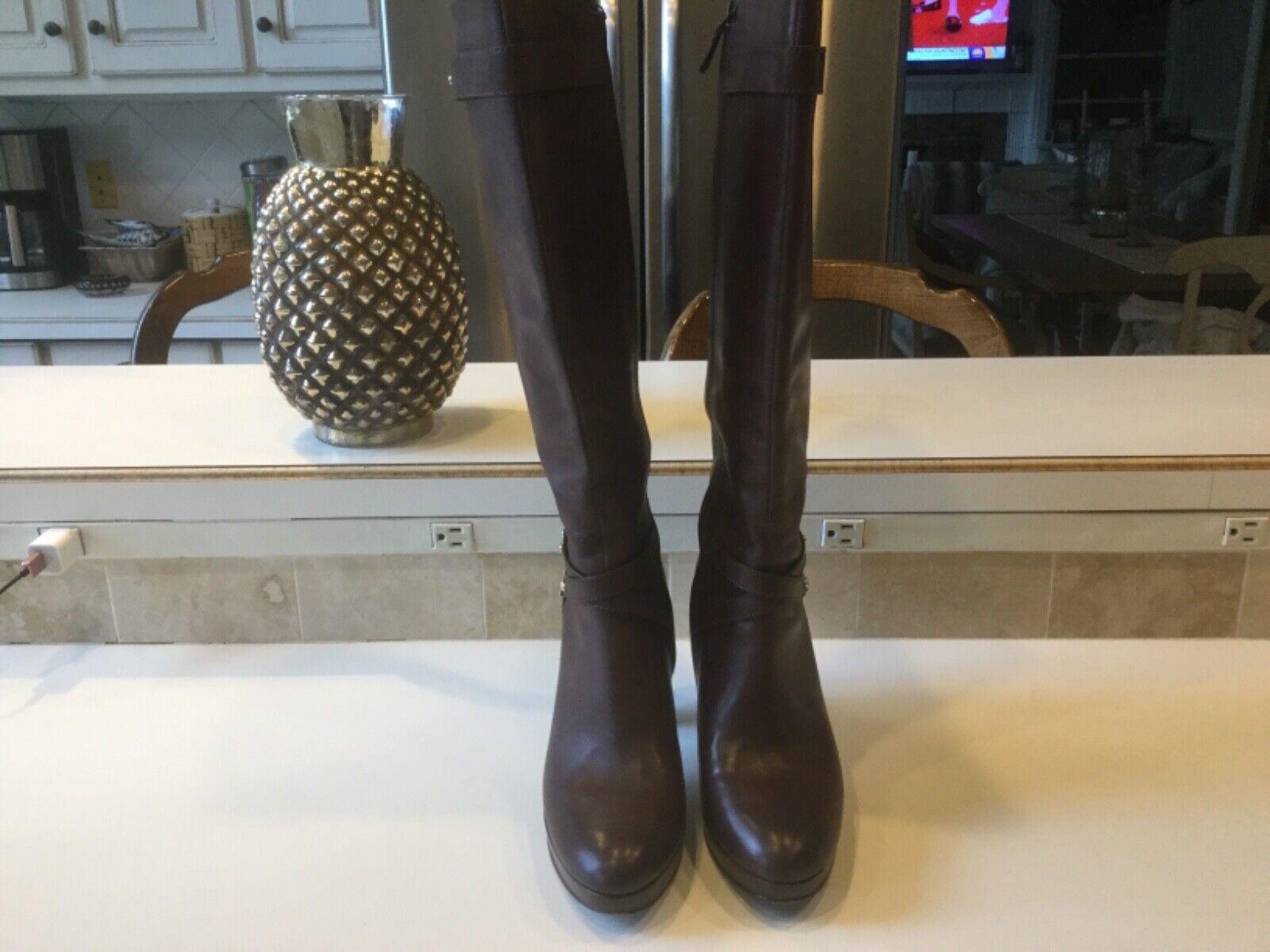 COLE HAAN donna 65533;Tall Marronee  Leather stivali con Side Zipper 9M  ordina ora con grande sconto e consegna gratuita
