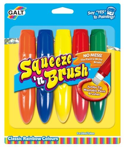 Galt Toys Squeeze  n Brush Five Classic Colours