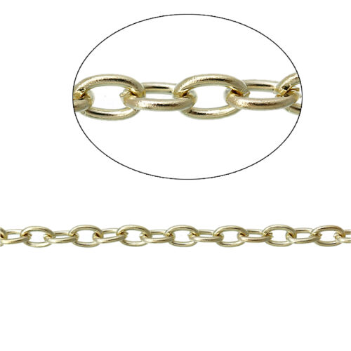 6ft Gold plated Cable Chains oval Link Findings Jewelry making p5