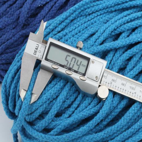 80M 1.3cm Coton Cordon Entortillé Corde Macramé Artisanat Bricolage Décoration