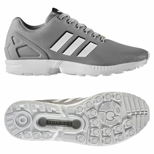 ae0d3b63b adidas ORIGINALS MEN S ZX FLUX TRAINERS GREY SNEAKERS SHOES RETRO RUNNING