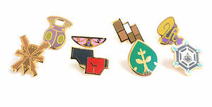 Complete-set-of-8-Gold-Kalos-Gym-Leader-Badges-Lapel-Pins-Pokemon-Series-6