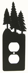 Tree-Trees-Single-Outlet-Plate-Black