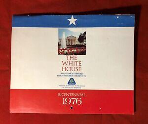 Vintage Teleflorist Advertising Wall Calendar The White House Bicentennial 1976