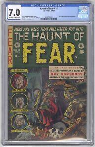 Haunt of Fear #18 CGC 7.0 HIGH GRADE EC Comic KEY Ray Bradbury Adaptation 10c