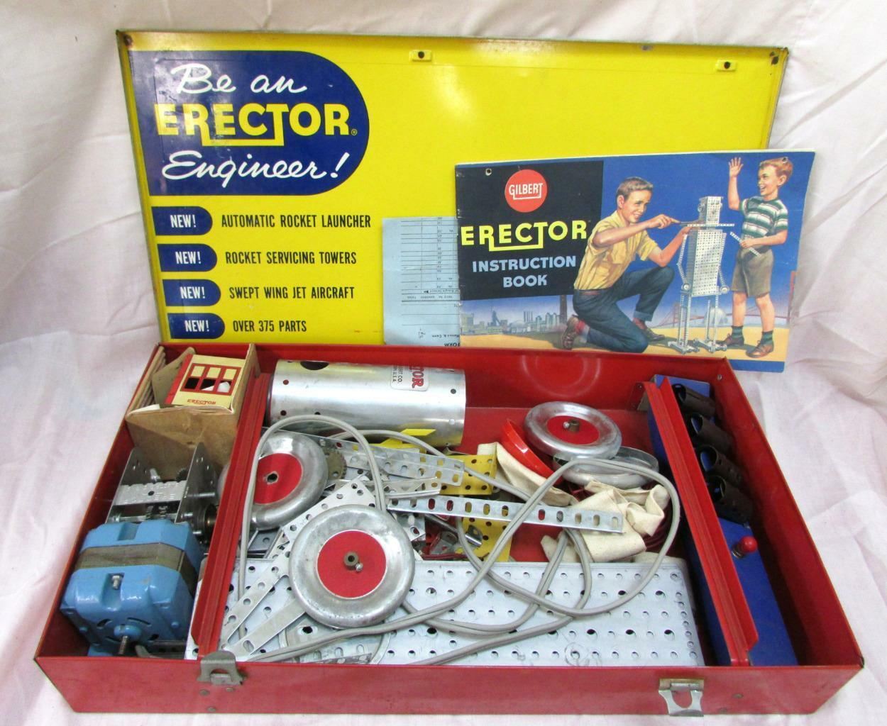 1959 årgång Gilbert Action Conveyor Erector Set Motor No. 10063 98