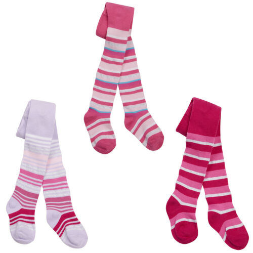 BABY GIRLS TIGHTS STRIPED PRINT PATTERN 0-24 MONTHS COTTON RICH TIGHTS #14 BNWT