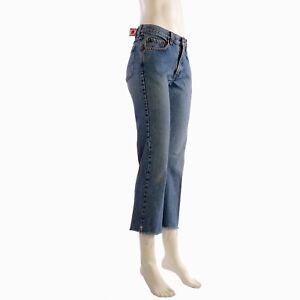 Lucky-Brand-Jeans-6-28-Womens-Capri-Mid-Rise-Women-Frayed-Hem