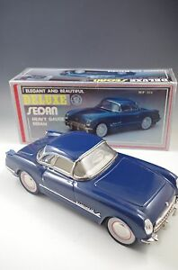 DELUXE FRICTION POWERED CHEVROLET 1950's CAR TIN METAL NM CONDITION WITH BOX
