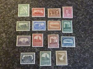 NEWFOUNDLAND-POSTAGE-STAMPS-SG164-178-1928-9-UMM-amp-LMM