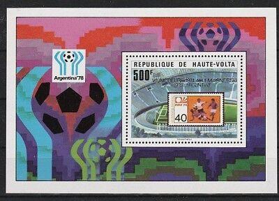 Temperamentvoll V4748 Obervolta-burkina Faso/ Fussball-wm 1978 Minr Block 52 ** Burkina Faso Briefmarken