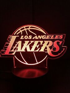 Lakers Angels Nightlight Creative 3D Visualization LED Lamp  7 Change Colors