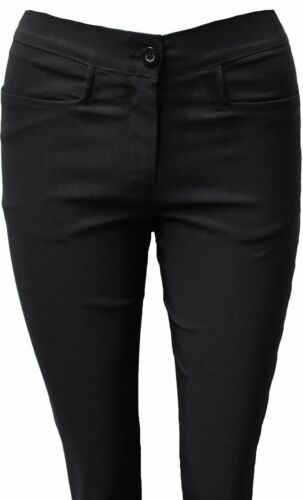 New Girls Bootcut Black School Trousers Strech women ladies office work trousers