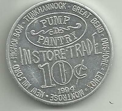 Pump And Pantry >> 1994 Aluminum Token For Pump N Pantry 10 Cents In Store Trade Ebay